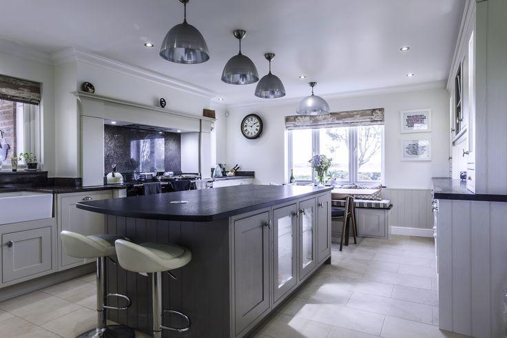 A stunning Calico Cream & Pumice kitchen from Hutton Kitchens in Essex Tel: 01277 633301 www.huttonkitchens.co.uk