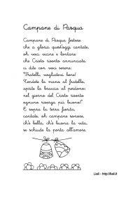 """Filastrocca """"Campane di Pasqua"""""""