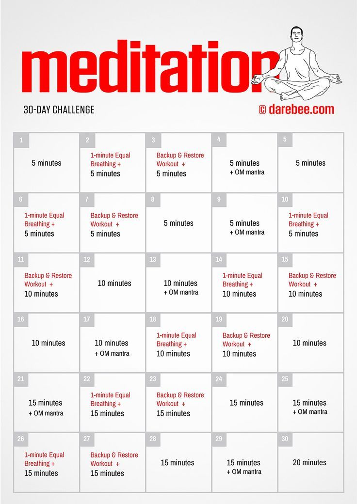 Completing a meditation challenge will train your mind and your body to become routine in your practice which will increase your strength in mindfulness.
