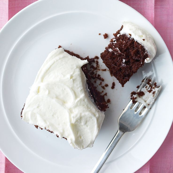 "This chocolate cake recipe from Lucinda Scala Quinn's ""Mad Hungry"" cookbook involves minimal cleanup -- the ingredients are blended in the very pan that goes into the oven."