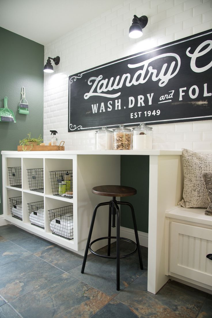 Fixer Upper Season 4   Chip and Joanna Gaines   Episode 05   The Graham House   Laundry Room   Mudroom  