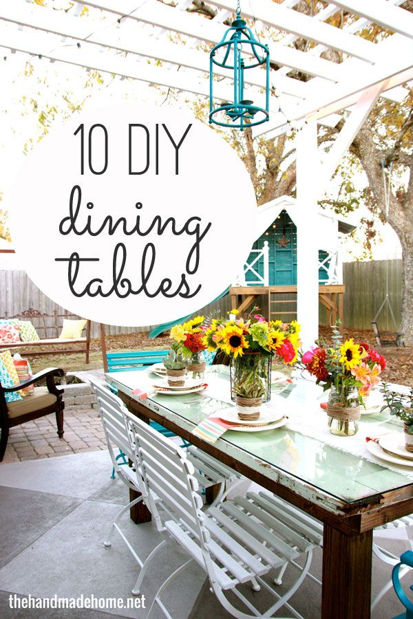 511 best images about decks and patios on pinterest for Build your own patio table
