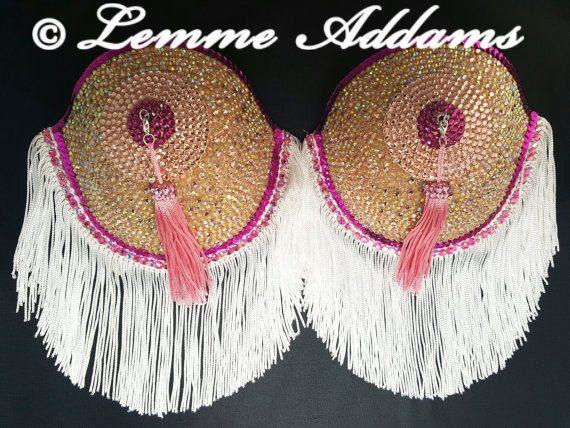 Burlesque, glands mamelon, soutien-gorge Burlesque, Pasties, Costume, Bra Burlesque personnalisé, fait à l