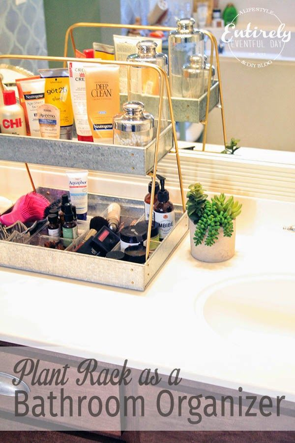 Creative Bathroom Counter Organizing Idea - Entirely Eventful Day