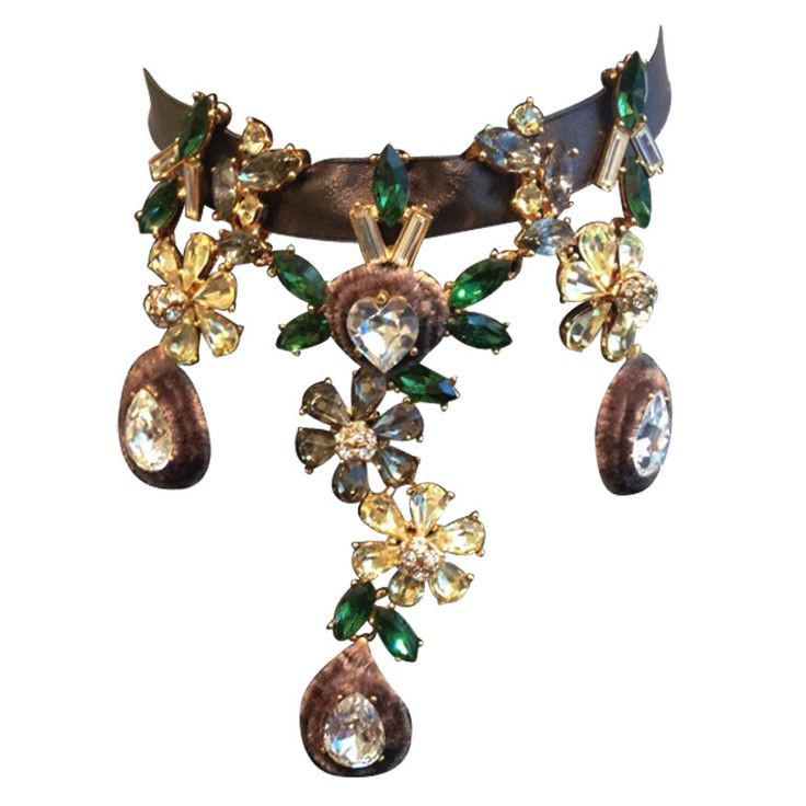 Vintage Christian Lacroix Necklace | From a unique collection of vintage choker necklaces at http://www.1stdibs.com/jewelry/necklaces/choker-necklaces/