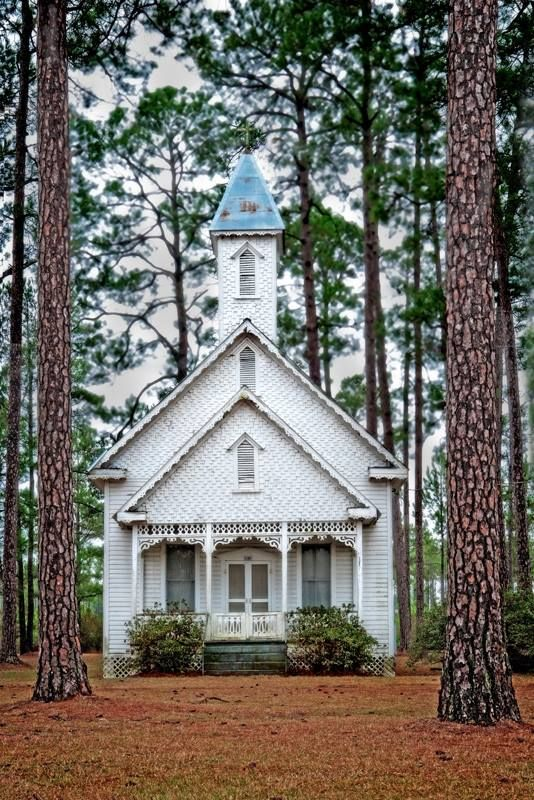 Old Ruskin Church, Ware Co, GA- Historical Rural Churches of Georgia