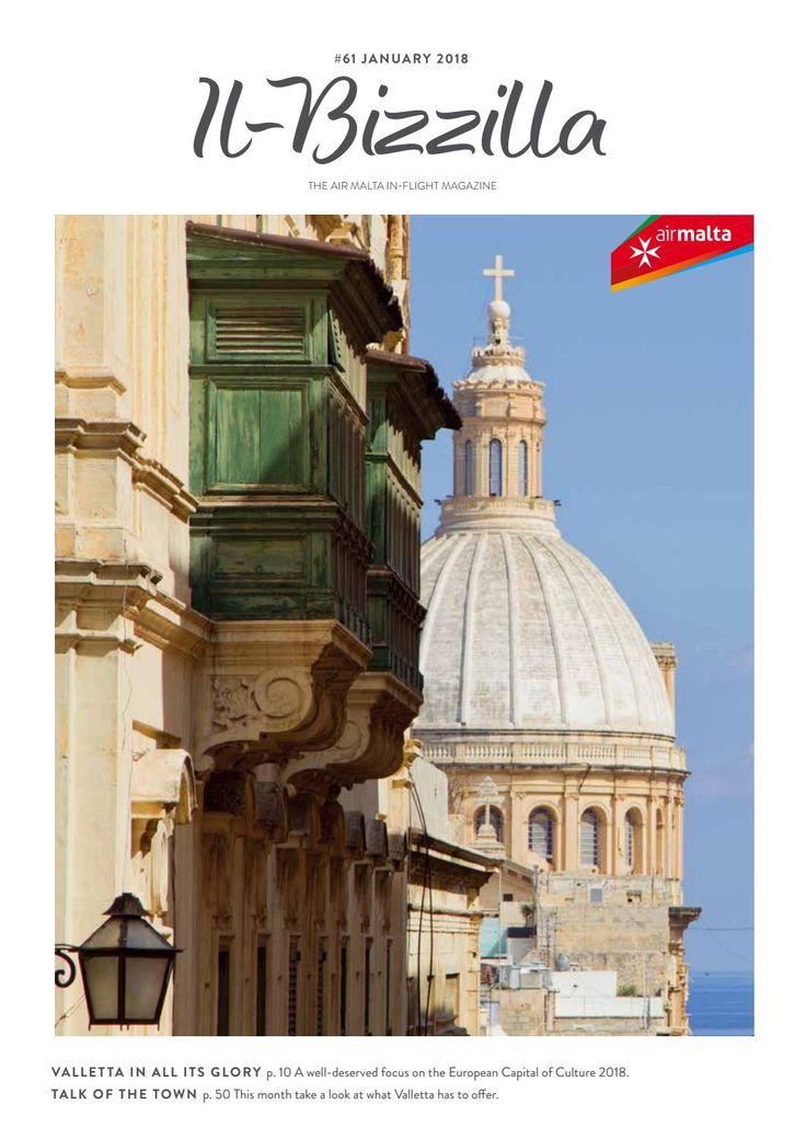 """""""Il-Bizzilla"""" - Air Malta's In-Flight Magazine - January 2018"""