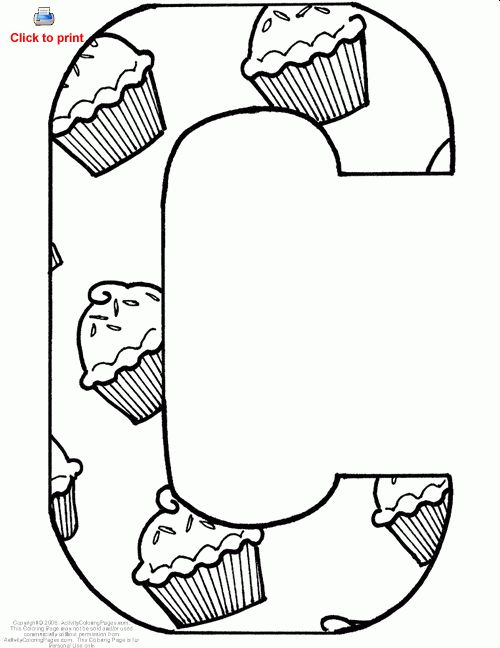 C coloring sheet - Google Search | PreK Planning | Coloring pages ...