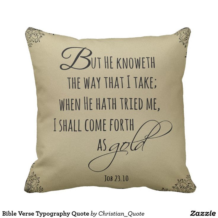 Bible Verse Typography Quote Throw Pillow