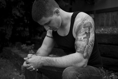 Soldier Tattoo http://www.pairodicetattoos.com/soldier-tattoo/