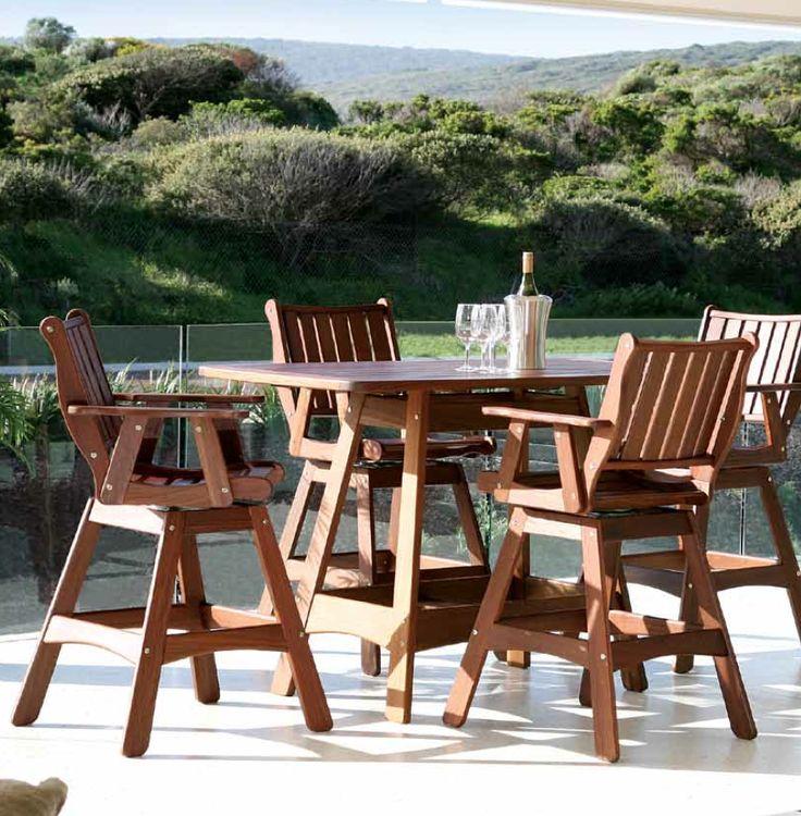 Intergra Roma Hi Dining Group Outdoor Wood Furniture.