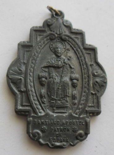 506-ANTIGUA-Y-RARA-MEDALLA-SANTIAGO-APOSTOL-PATRO-DEL-ANO-SANTO-DE-1943