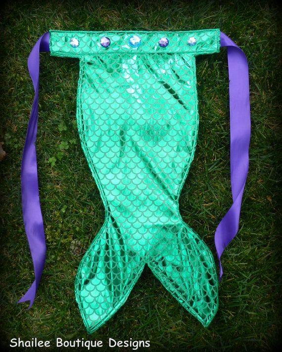 mermaid tail fish scale apron mermaid birthday by ShaileeBoutique