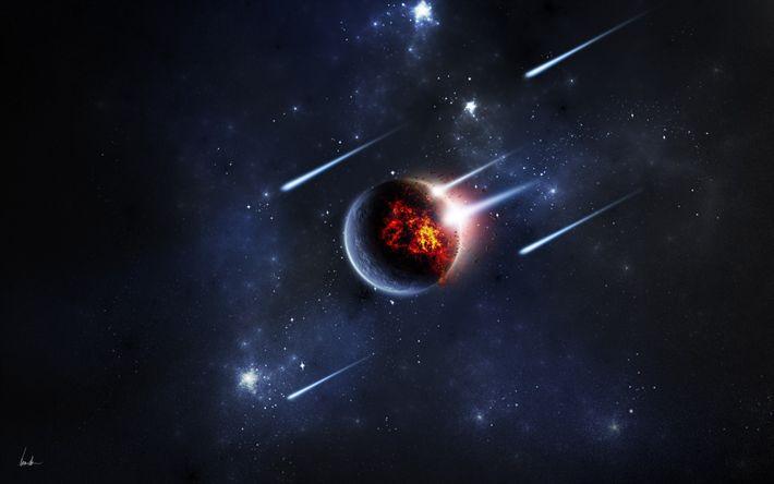 Hämta bilder meteorer, planet, galaxy, digital konst, nebulosan