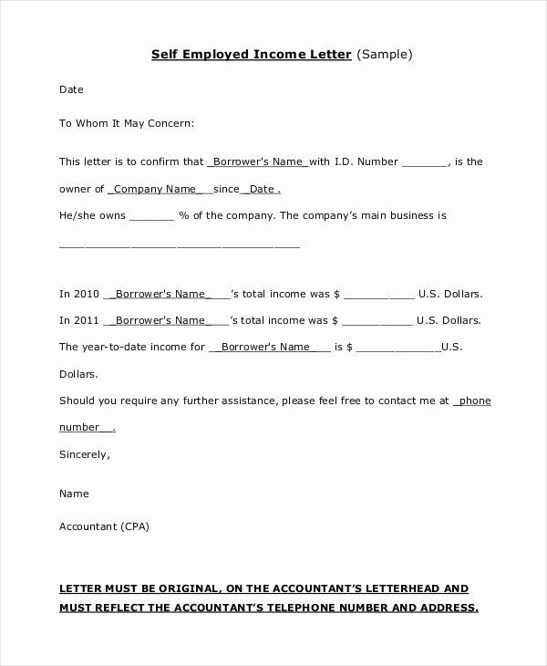 Self Employed Income Verification Letter Best Of Notarized Letter For Self Employment Fl Letter Templates Free Statement Template Professional Reference Letter