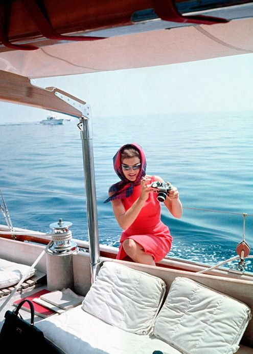 """somethingphotographic: """" celebrities with cameras: jacqueline kennedy onassis """""""