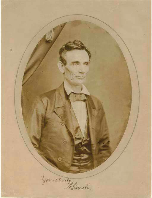 "Although some historians have dated this photograph during the court session of November 13, 1859, and others have placed it as early as 1853, most authorities now believe it was taken on May 27, 1857. The photographer Amon T. Joslin owned ""Joslin's Gallery"" located on the second floor of a building adjoining the Woodbury Drug Store, in Danville, IL. This was one of Lincoln's favorite stopping places in Vermilion County, Illinois, while he was a traveling lawyer. Joslin photographed Abraham…"