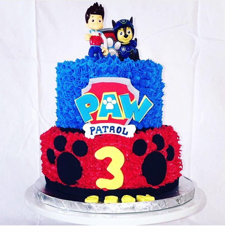 """Facebook: Wendi's Cake Creations """"Paw Patrol Buttercream cake"""""""