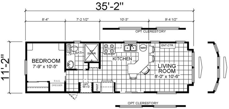 12×36 tiny house floor plan | We both wanted a big…