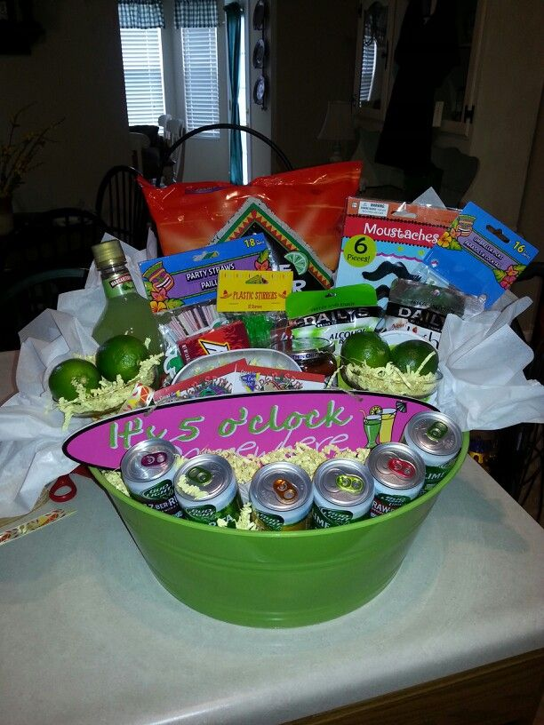 My margarita gift basket...thanks for all your help @missykress! :)