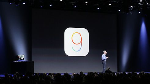 Craig revealing the new features of iOS9