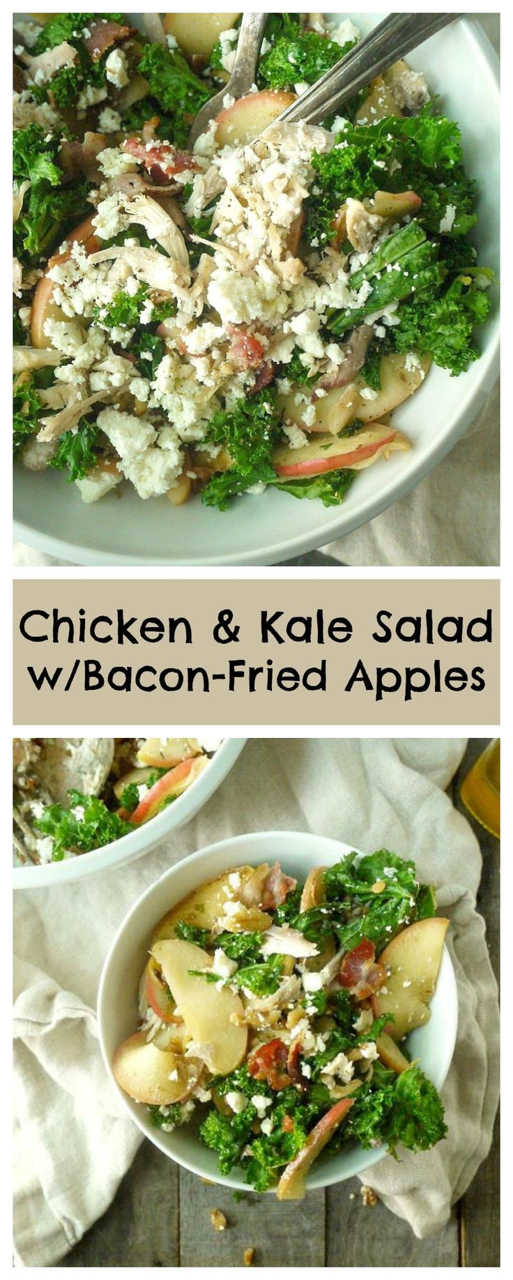 This salad is like fall in a bowl! #salad #fallrecipes