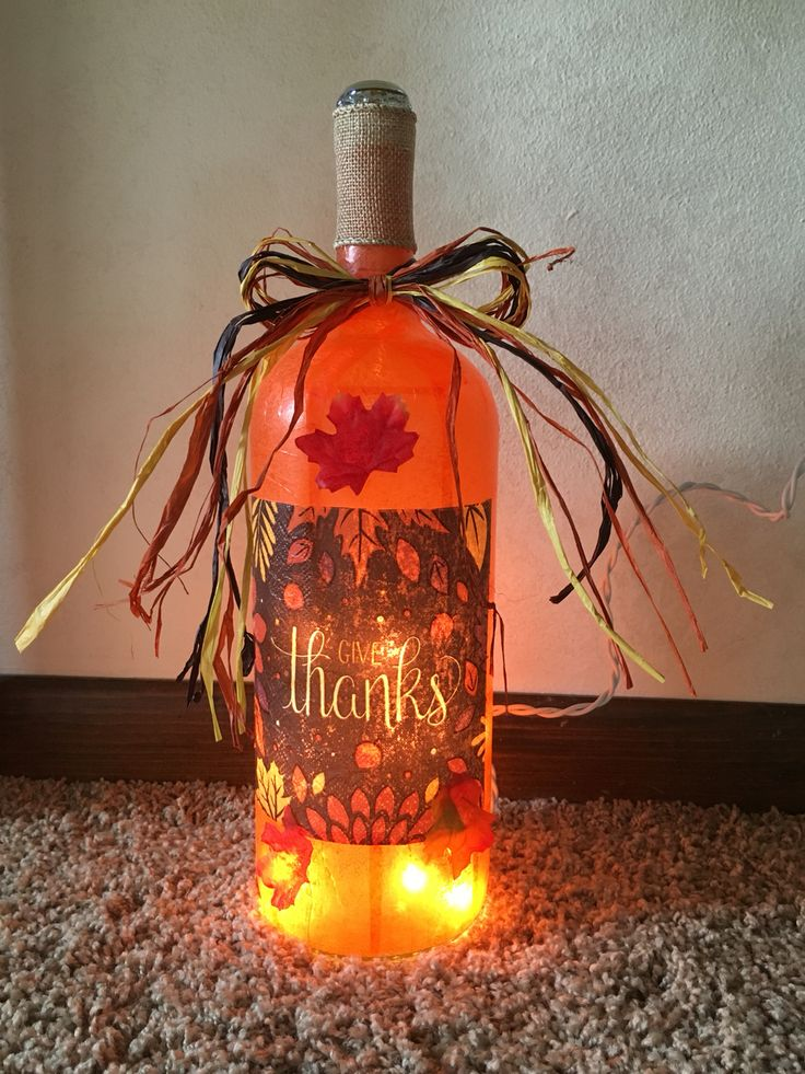 Give Thanks wine bottle lamp 77 best