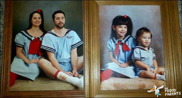 Matching sailors  Check Out These Hilariously Recreated Childhood Photos • Page 2 of 6 • BoredBug