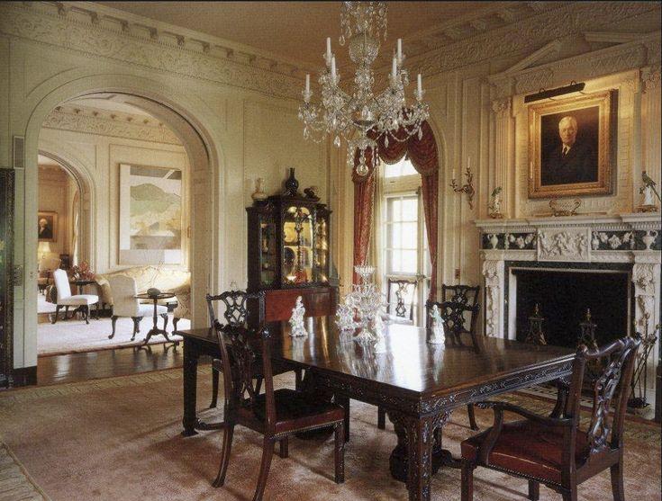 Kykuit john d rockefeller 39 s formal dining room in sleepy for Traditional formal dining room
