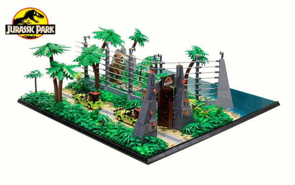 This Jurassic Park Lego Diorama Combines All Four Movies Into One Massive Display