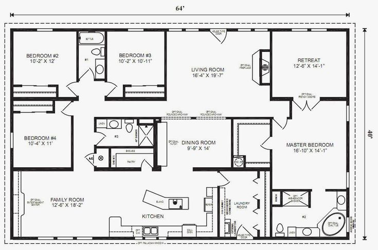 5 bedroom triple wide mobile homes floor plans  all home