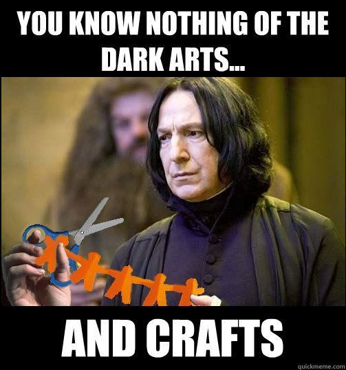 When your Pinterest project lets you down. #refinery29 http://www.refinery29.com/2016/01/100213/best-snape-harry-potter-memes#slide-9