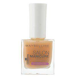 Tο Maybelline Salon Manicure Ultra Strong French αποτρέπει το σπάσιμο και το ξεφλούδισμα των νυχιών, ενισχύοντας τη φυσική κερατίνη τους. Η εμπλουτισμένη σύστασή του με σκόνη διαμαντιού χαρίζει λάμψη στα νύχια σας. Είναι ιδανικό ως βάση και μπορεί να χρησιμοποιηθεί και ως top coat για να ε