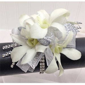 white and silver corsage - Google Search