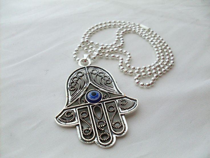 Mano di Fatima Collana Ciondolo Khamsa Hamsa Charms , Main de Fatima collier