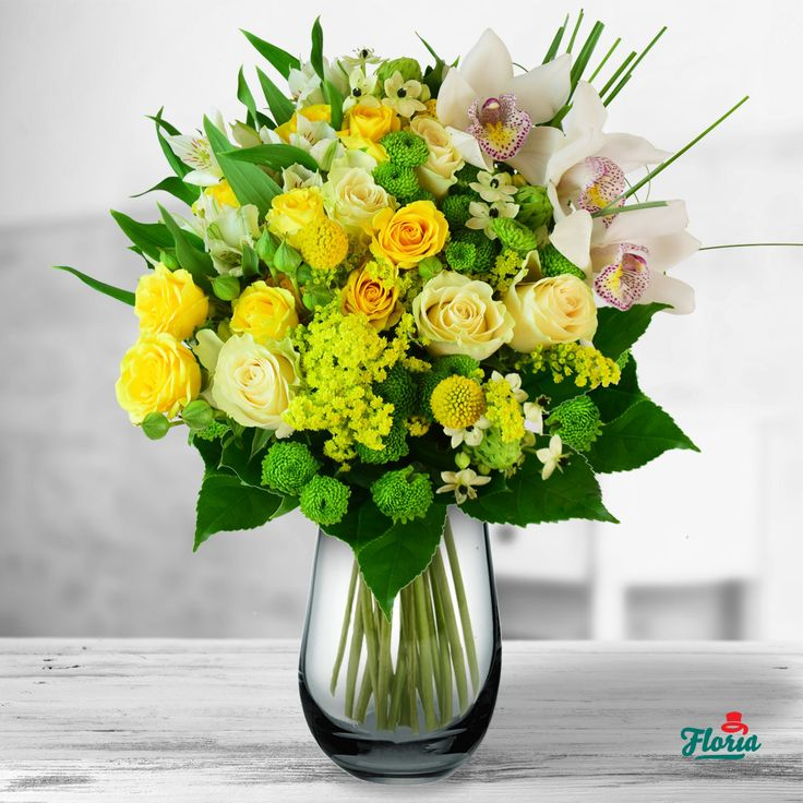 Un buchet plin de lumina, cald si proaspat, ca razele soarelui dimineata. Un buchet care aduce speranta si care, oricat de mohorata ar fi vreamea, iti si ii insenineaza ziua. Acest buchet contine: 5 trandafiri albi, 2 minirosa galbeni, 2 solidago, 3 cymbidium, 2 santini, 3ornithogalum, 3 alstroemeria alba, 3 craspedia. Dimensiuni: 40 cm (inaltime) - 35 cm (diametrul buchetului)