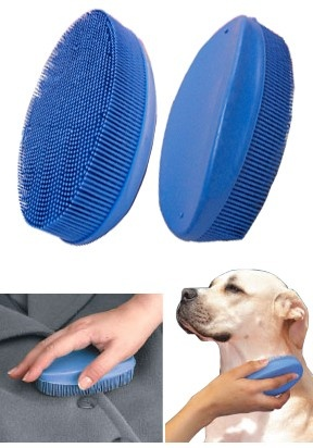 Rubber Lint Brush: This is a miraculous pet hair remover.