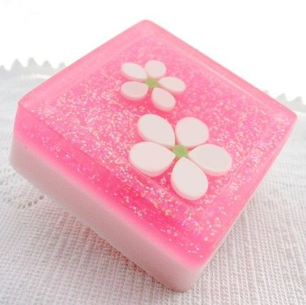 decorative soap | Water Lily Jasmine Decorative Soap with Shea Butter , $5