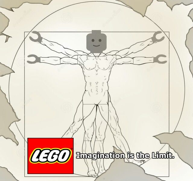 This is from my LEGO project. The task was to create a campaign for LEGO that is aimed to encourage more imagination in children's playtime. I chose to use the iconic Da Vinci drawing as part of my campaign.