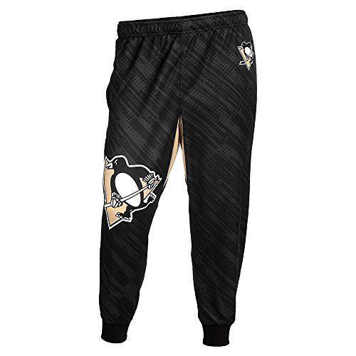 NHL Pittsburgh Penguins Men's Polyester Jogger Pants, Black, Large by Klew. NHL Pittsburgh Penguins Men's Polyester Jogger Pants, Black, Large. Large.