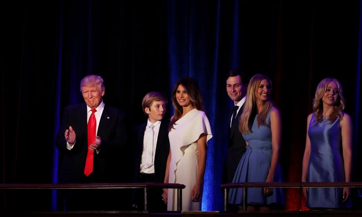 9 November 2016  President-elect Donald Trump delivers his acceptance speech during his election night event at the New York Hilton Midtown