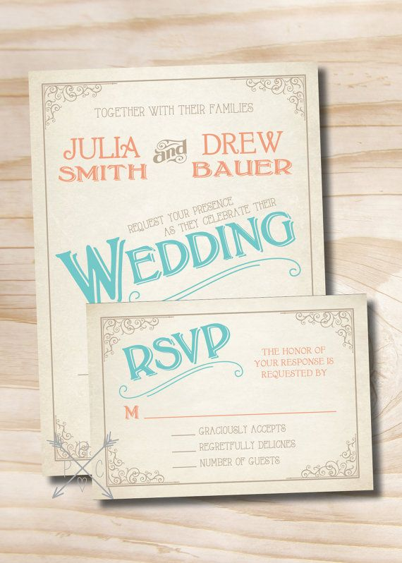 VINTAGE SCROLL POSTER Rustic Wedding by PaperHeartCompany on Etsy, $200.00