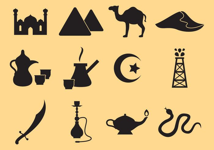 Free vector Middle East Icons #22484