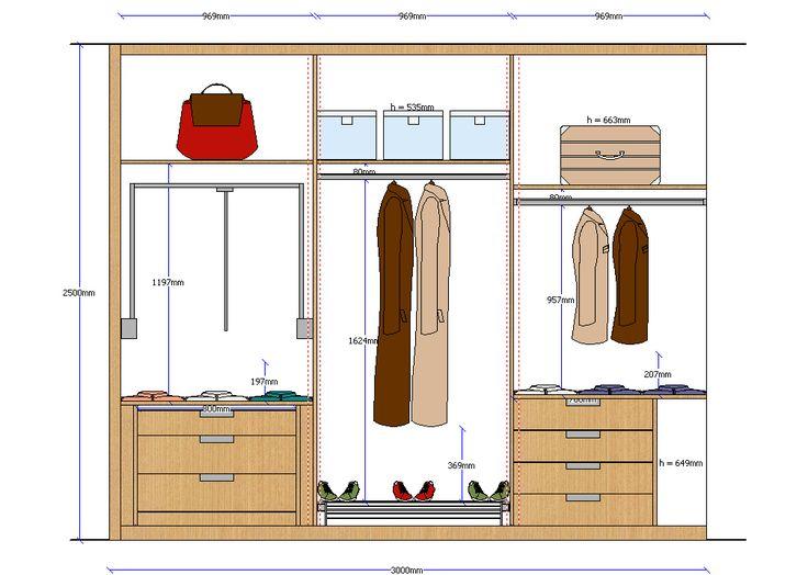Closet elevation 3 | closet y vestier | Pinterest | Closet ...