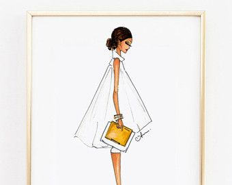 Fashion Illustration Print The Editor by anumt on Etsy