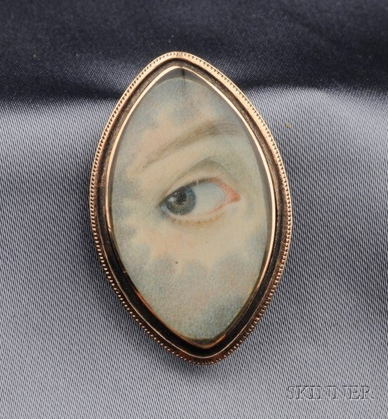 Antique Miniature Eye Portrait