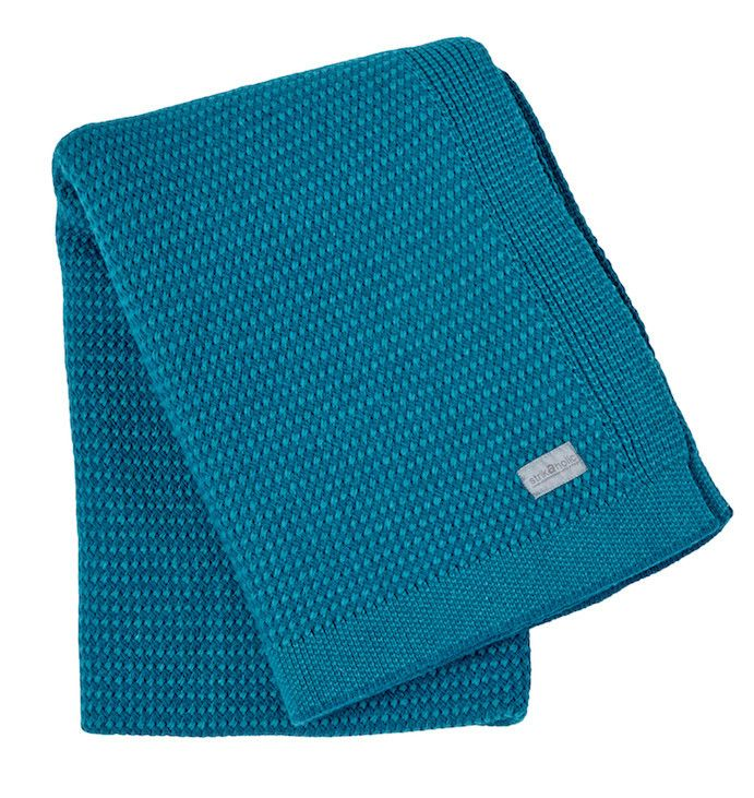 Basket Weave blanket, green