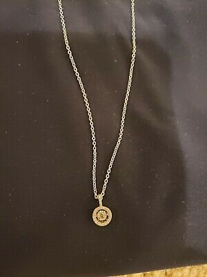 Ebay Advertisement 10 Karat Gold Necklace With Diamond Accent In 2020 Gold Necklace Diamond Accent Necklace