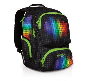 Plecak z młodzieżowej kolekcji StreeHIT - model HIT 826 A - Black. Czarny, ale kolorowy!