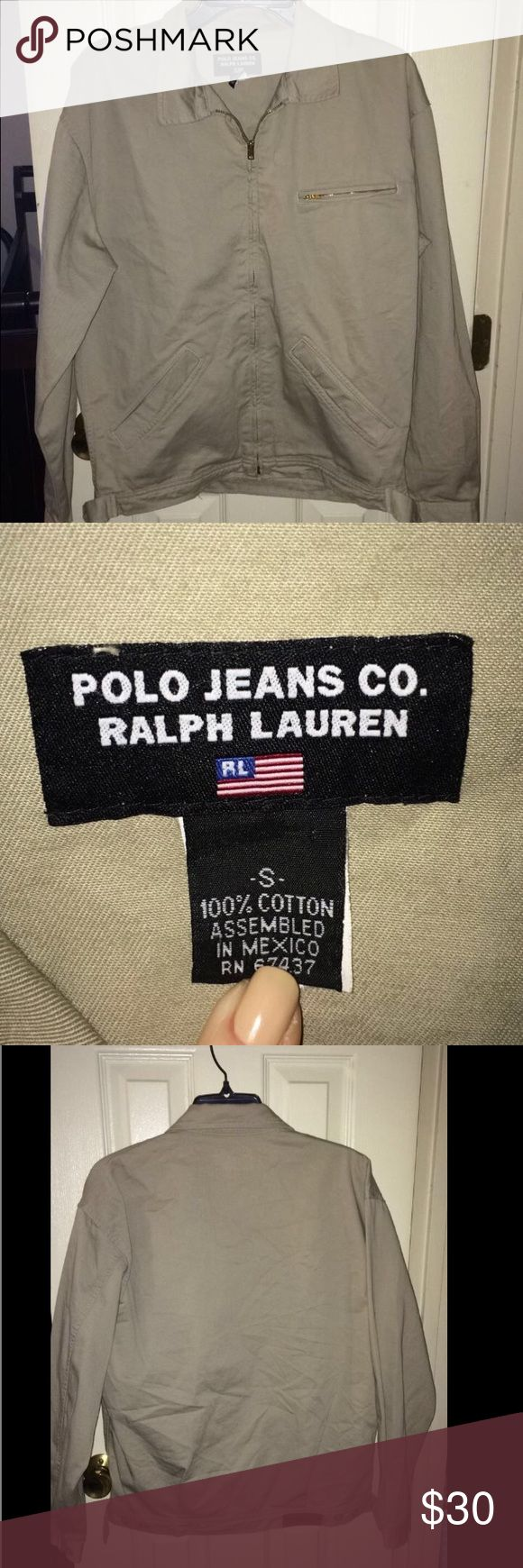 Vintage Polo Jeans co. Ralph Lauren jacket Beige Jacket Size SMALL Polo by Ralph Lauren Jackets & Coats